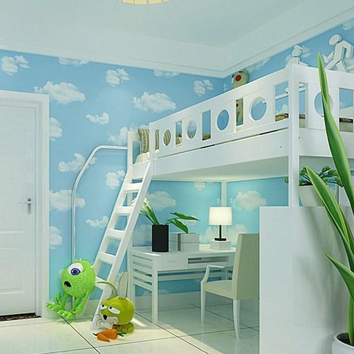 baby boy bedroom high quality home decoration blue sky and white clouds 10148