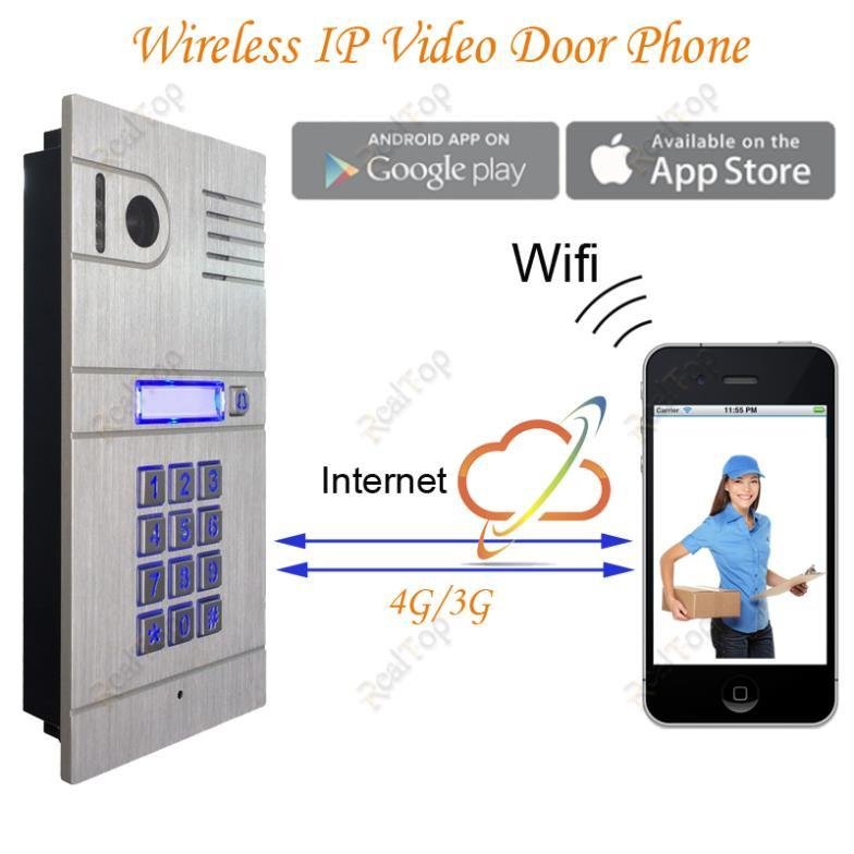 Global Wireless Wifi Ip Mobile Video Door Phone Via