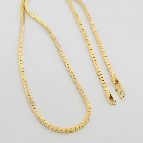 2018 MenS Gold Necklace High End Fashion Never Fade Gold