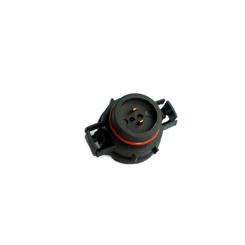 LEEWA Car H16/5202/2504/PSX24W Bulbs Male Connector For Fog Lights Holder Plug #1865