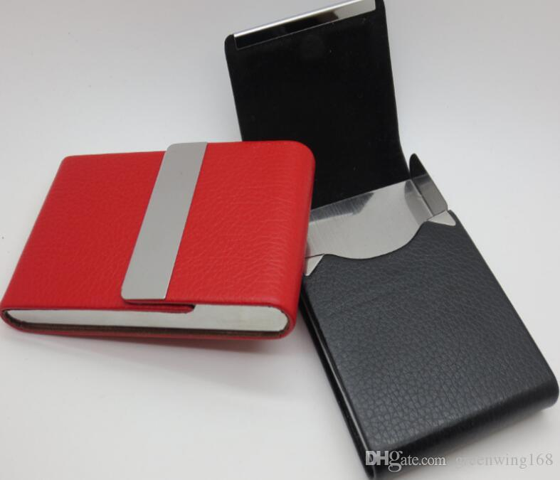 New leather business credit card name id card holder case wallet new leather business credit card name id card holder case wallet box porte carte dhl free ship leather business card holder business card case id card reheart Choice Image