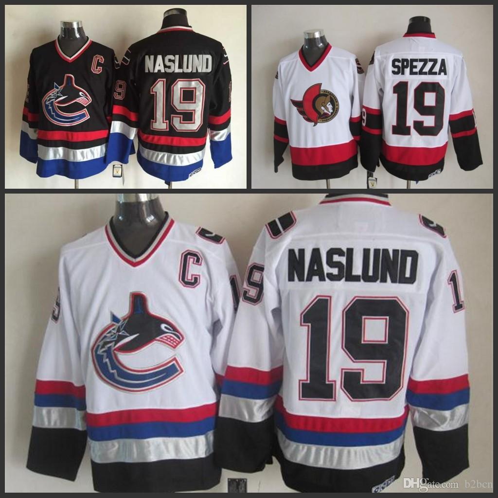 96d0007b0 New Vancouver Canucks 2003-06 Throwback Uniform 19 Markus Naslund Jersey  White Black CCM Vintage ...