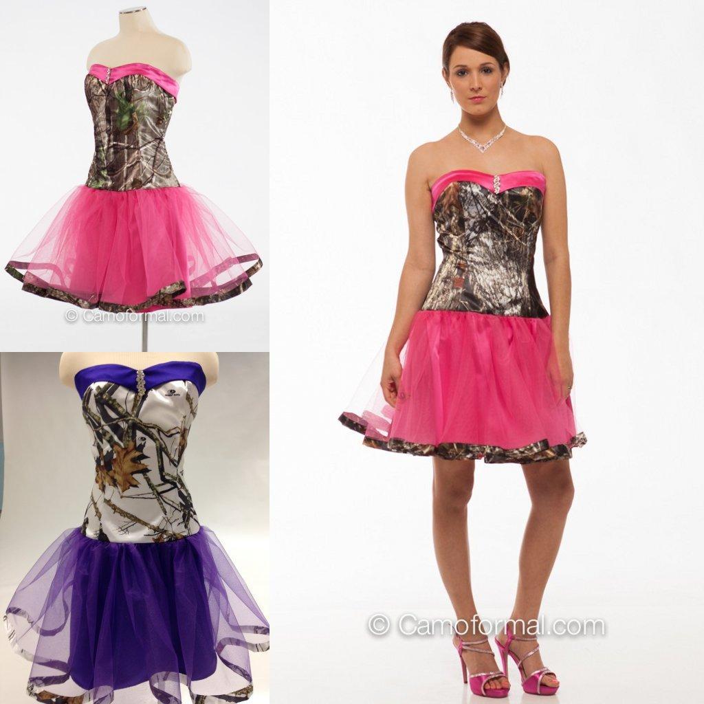 Custom Made Colorful Camo Bridesmaid Dresses 2016 Hot Sale Cheap ...