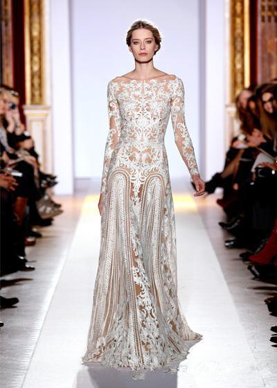 Long Sleeve Floor Length Prom Dresses