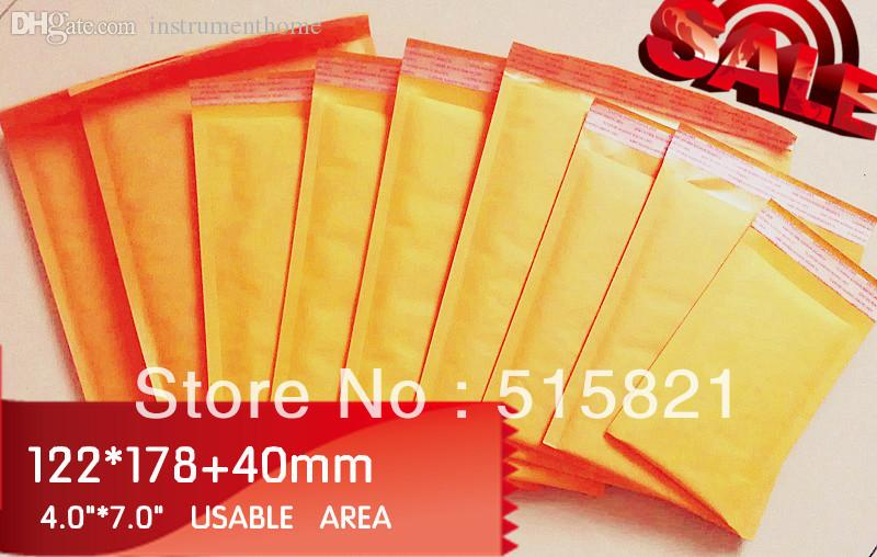 Al por mayor- # 000 Golden Kraft Bubble Sobres de correo 122 mm x 218 mm (4x8