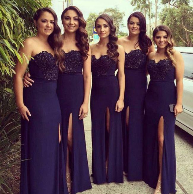 Vestidos para damas de honor morados