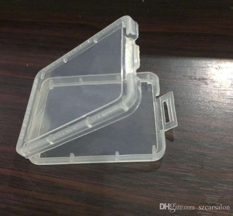 CF-Karte Kunststoffkoffer transparent Standard-Speicherkartenhalter MS weiße Box Aufbewahrungskoffer für TF micro XD SD-Kartenbehälter