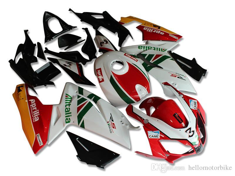 4 Regalos gratis Nuevos carenados Inyección ABS Completos kits de carenado para aprilia RS125 2006-2011 RS 125 06 07 08 09 10 de carrocería RS4