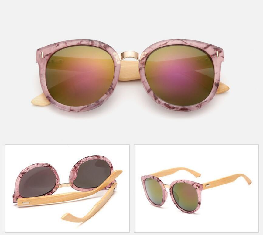 Summer Travel Bicycle Windproof Goggles Bamboo Foot Sunglasses Retro Sun Glasses Resin Lenses Dazzle Colour Sun Glasses Cheap