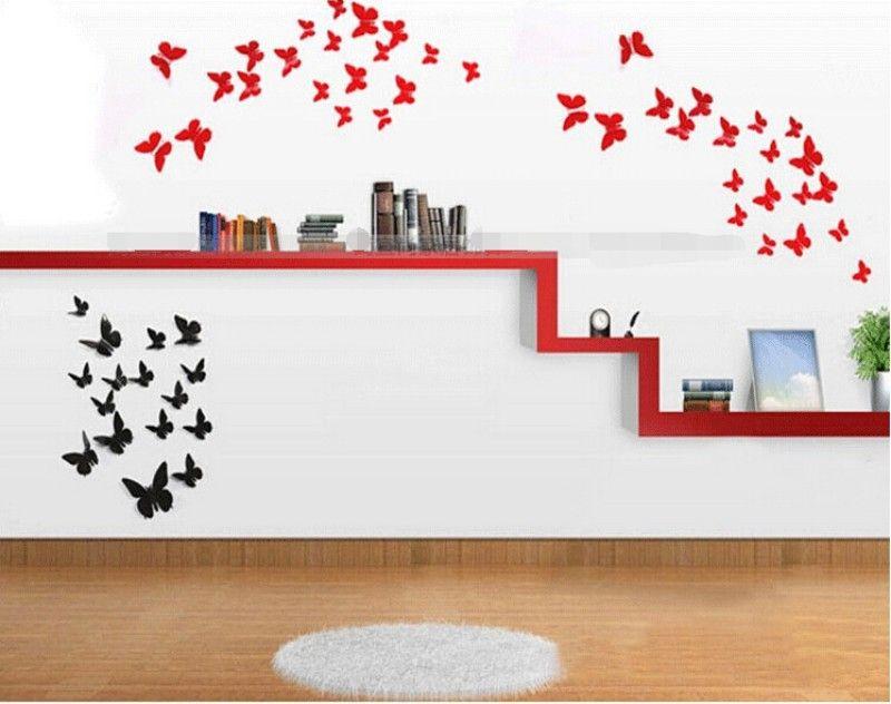 3D farfalla rimovibile adesivi murali adesivi murali adesivi la casa e la decorazione della stanza