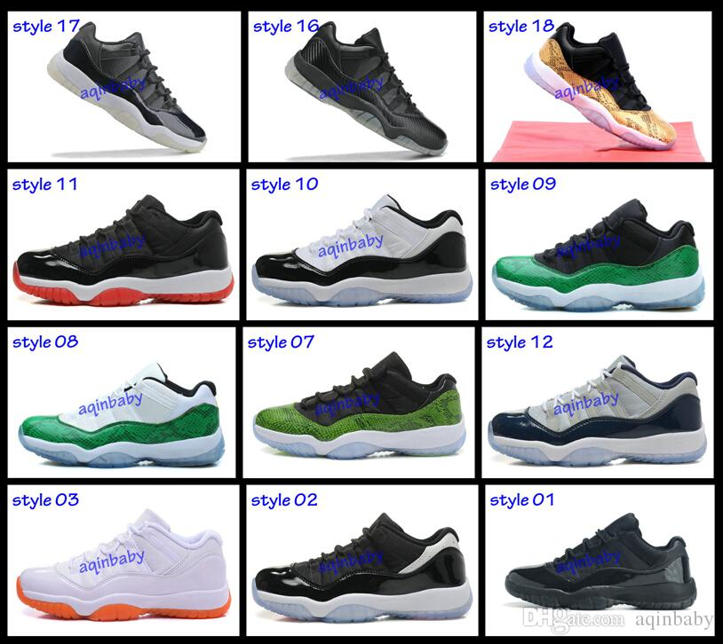 New 2015 Retro 11 Low Basketball Shoes Bred Georgetown Space Jam Citrus Gs Basketball  Sneakers Women Men Low Cut Athletics Boots Retro Xi Jordans Running ... 2f4a5f02b1
