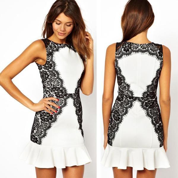 2015 White Dress For Women Plus Size Summer Dresses Office Dresses