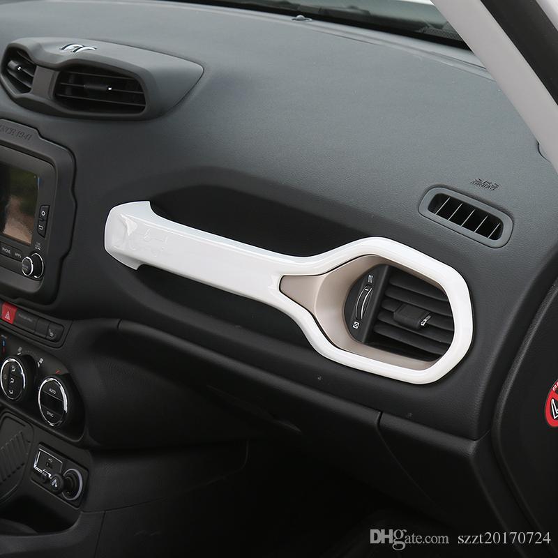 Copiloto Mango Decoración Tira Cubiertas Ajuste del ajuste para Jeep Renegade 2015-2016 ABS Interior del coche Accesorios Styling