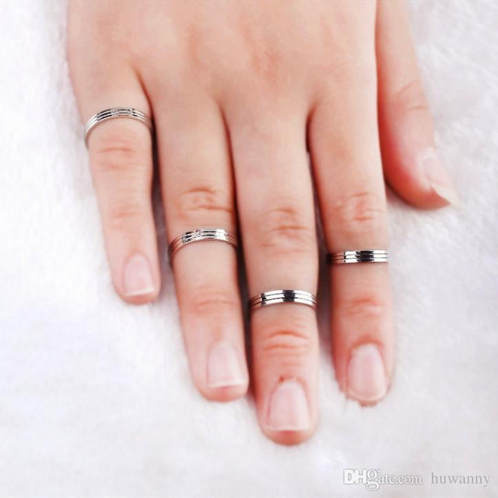 Top Grade Silver Band Rings Hot Sale New Fashion Punk Finger Ring For Women Girl Men Jewelry Wholesale 0010WR