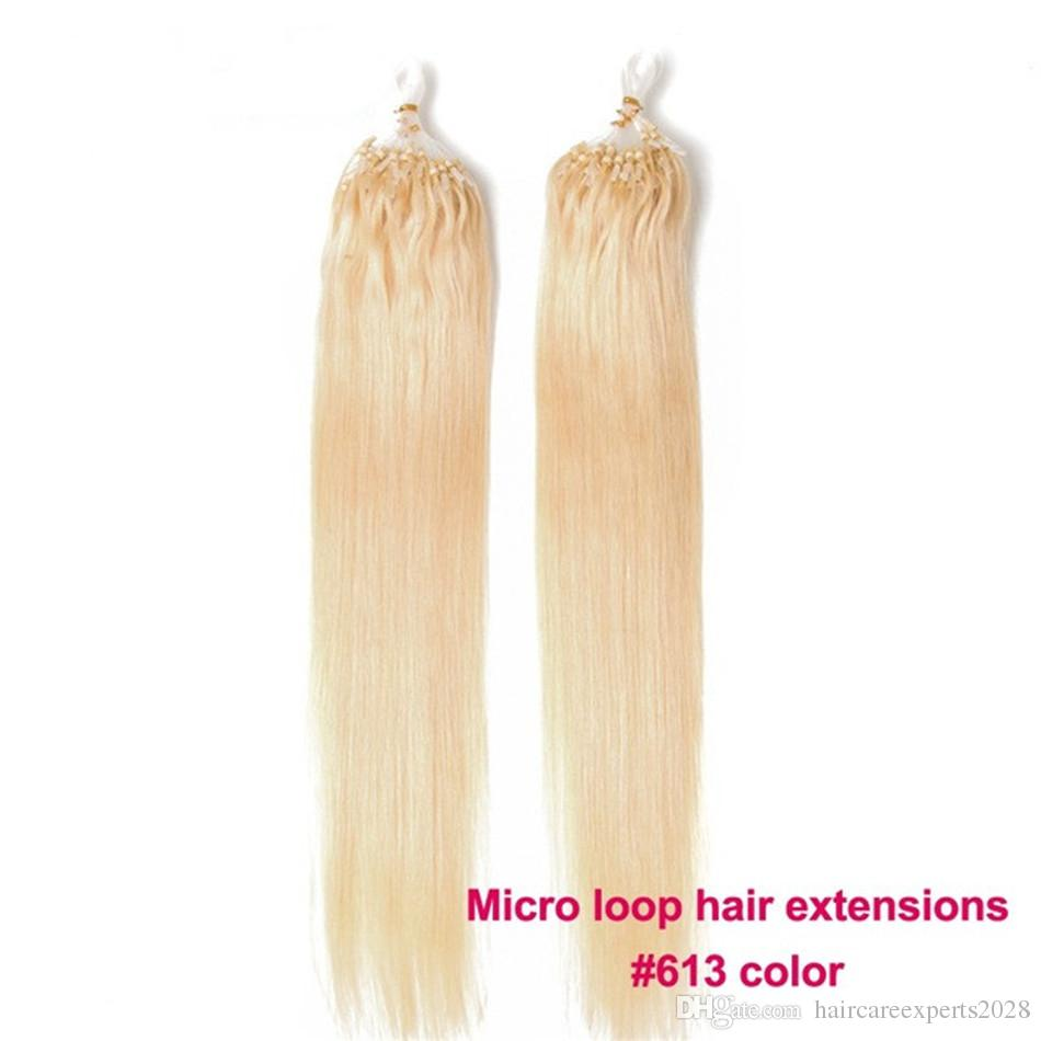 Elibess Hair Micro Loop Ring Hair Straight 05gstrand 200s Non Remy
