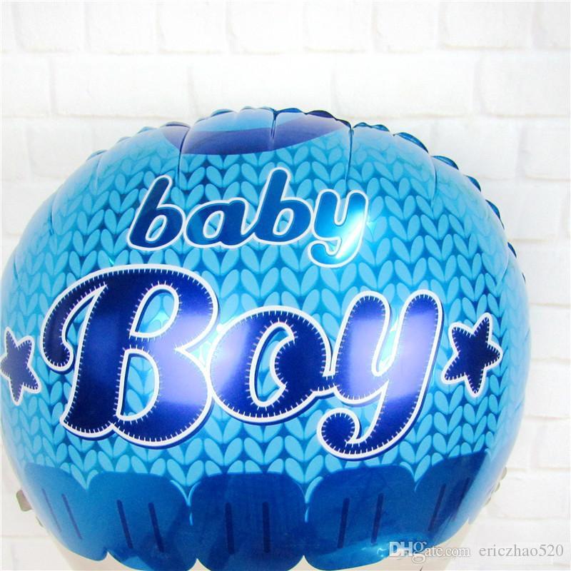 Lovely Boy Girl Baby Head Balloon Baby Shower aluminium Foil Balloons For Baby Birthday Party Decoration Globos