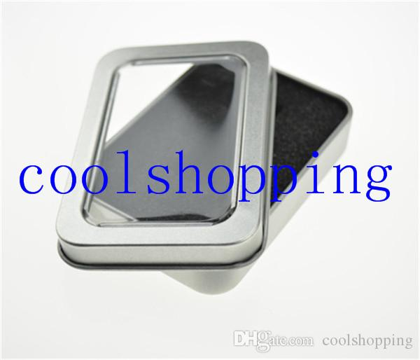 DHL open window Metal Storage Boxes with sponge Storage Box, Vintage Metal case 8.8*6*1.7cm
