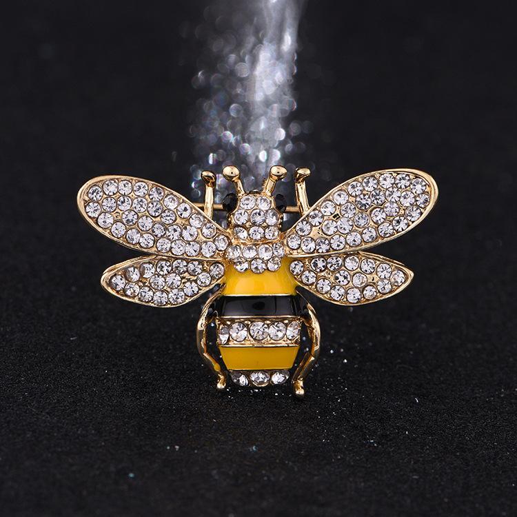 Diseñador de la marca Abeja Broches Pasadores Para Las Mujeres de Alta Calidad Rhinestone Cristal Hebilla Broche de Joyería de Lujo Al Por Mayor