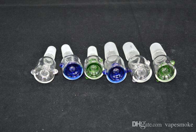 Nuevo recipiente de vidrio con tornillo de vidrio Pantalla de nido de abeja Redondo es ajuste opcional para bongs de vidrio Tubo de agua de vidrio y plataforma petrolera Ashcatcher
