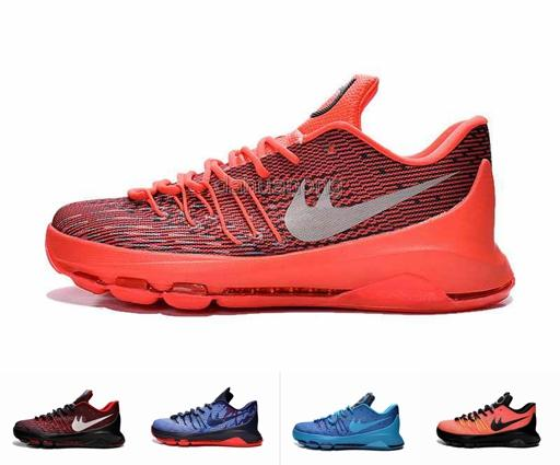 67205cbaab8f 2015 New Kevin Durant KD 8 VIII Basketball Shoes For Men V8 Bright Crimson  With Tick Sports Leather Athletic Sneakers Eur Size 40 46 Sports Shoes  Online ...