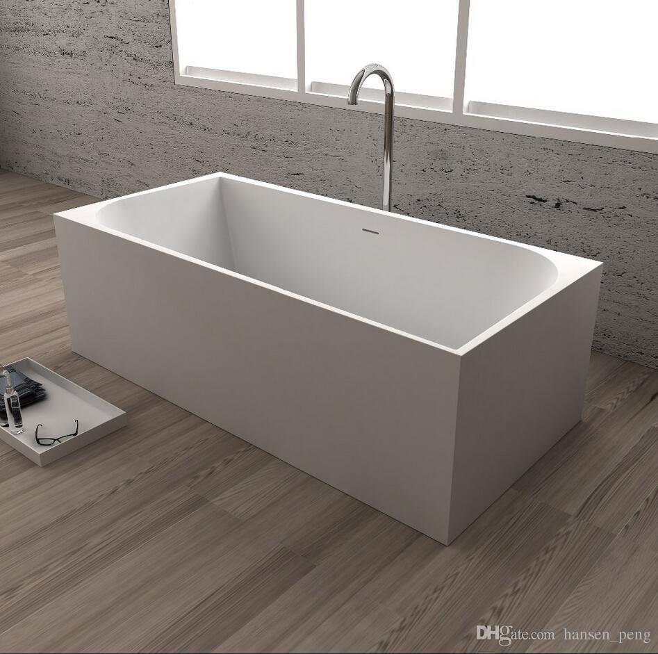 2018 1700x750x580mm Becco Designer Solid Surface Bathtub Stone Finish  Artificial Stone Bathtub Cupc Certificate Rectangular Tub 65110 From  Hansen_peng, ...