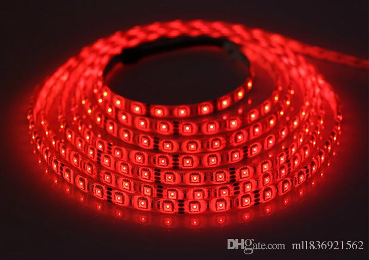 5m High Quality Led Strip 5050 SMD Red Blue Green Purple Yellow Orange Warm White Cool White 5M 300led Non-Waterproof Led Strip Light