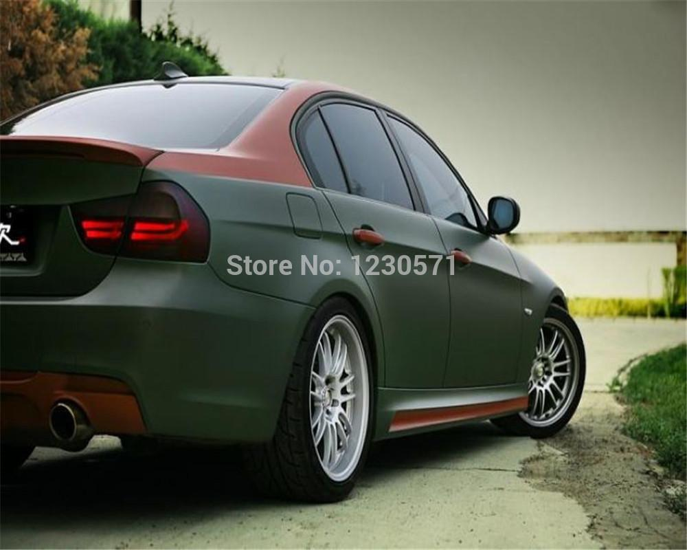 2018 Matte Army Green Car Vinyl Wrap With Air Drain Best Quality
