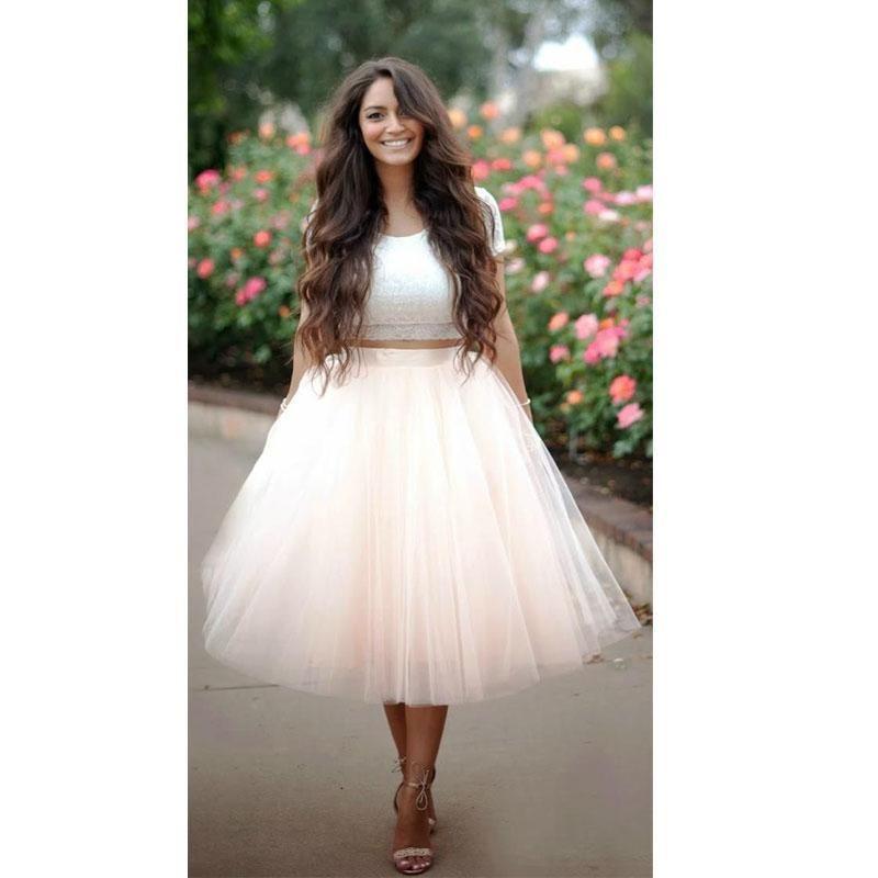 Wholesale pink tutu tulle skirt for women new fashion for Tulle skirt under wedding dress