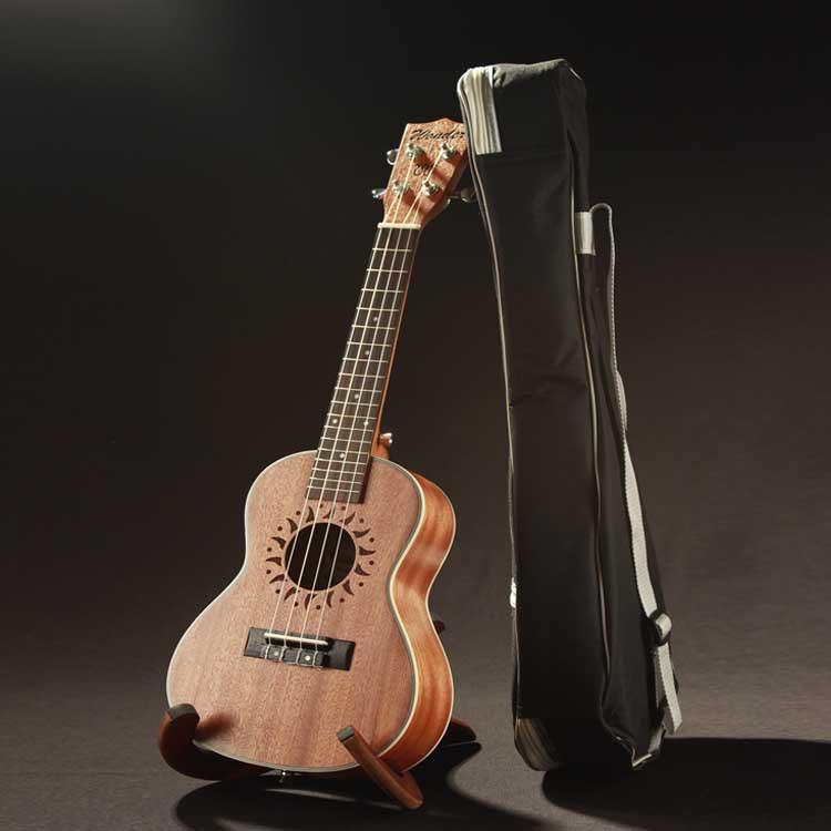 Ukulele 23 Inch Wide White Border Peach Ukulele Ukulele Small Guitar