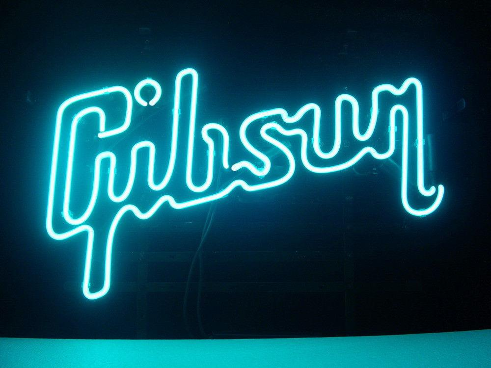2020 Brand New Gibson Guitar Glass Neon Sign Beer Light