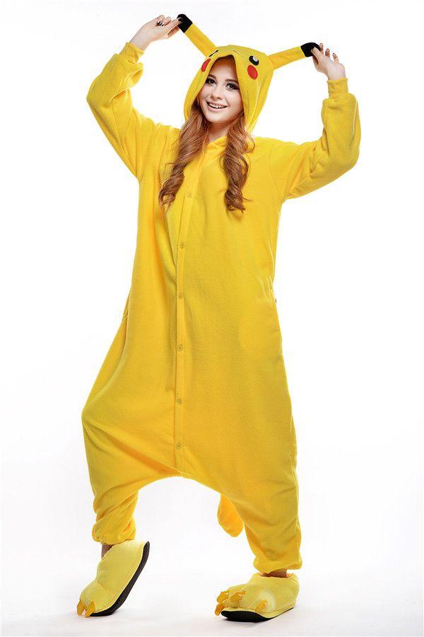 pikachu kigurumi pajamas animal suits cosplay outfit halloween costume adult garment cartoon jumpsuits unisex animal sleepwear wedding wholesalers wedding - Pikachu Halloween Costume Women