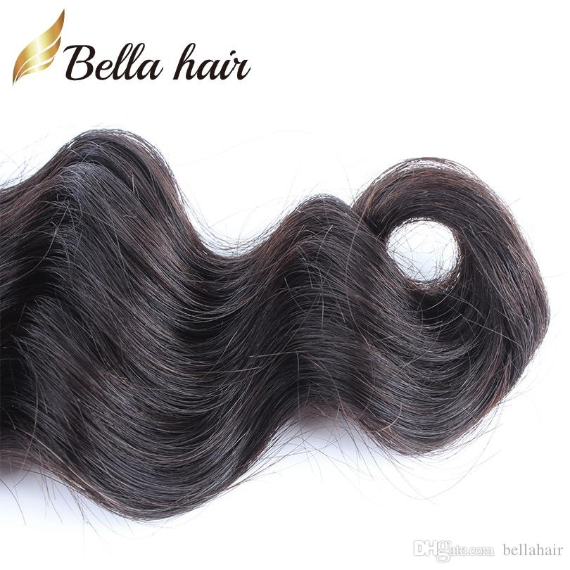 ペルーバージン人間の髪の緯糸織り織り織りの自然な色のバージンヘアバンドルルーズディープウェーブ3ピースベラエアのバルク卸売