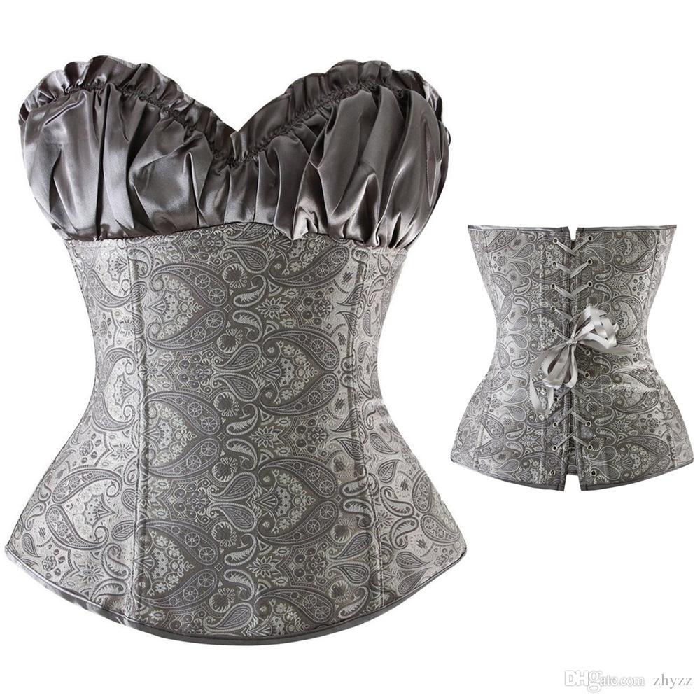 섹시 코르셋 및 Bustiers 블랙 허리 트레이닝 코르 셋 르네상스, 란제리 레이싱 코르 셋 탑 웨딩 드레스 플러스 크기 S-6XL