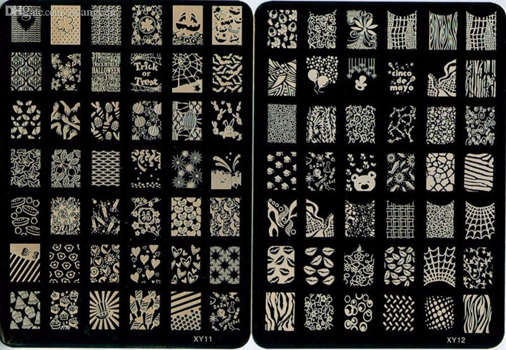 Wholesale Nail Stamping Plates Stamper Nail Templates Stamp Image ...