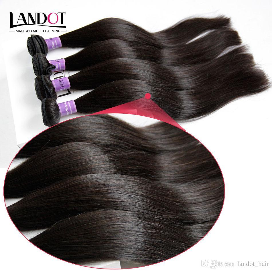 بيرو الشعر حريري مستقيم الإنسان الشعر نسج 4 حزم الكثير غير المجهزة 8a بيرو مستقيم الشعر الطبيعي أسود اللون مزدوجة لحمة