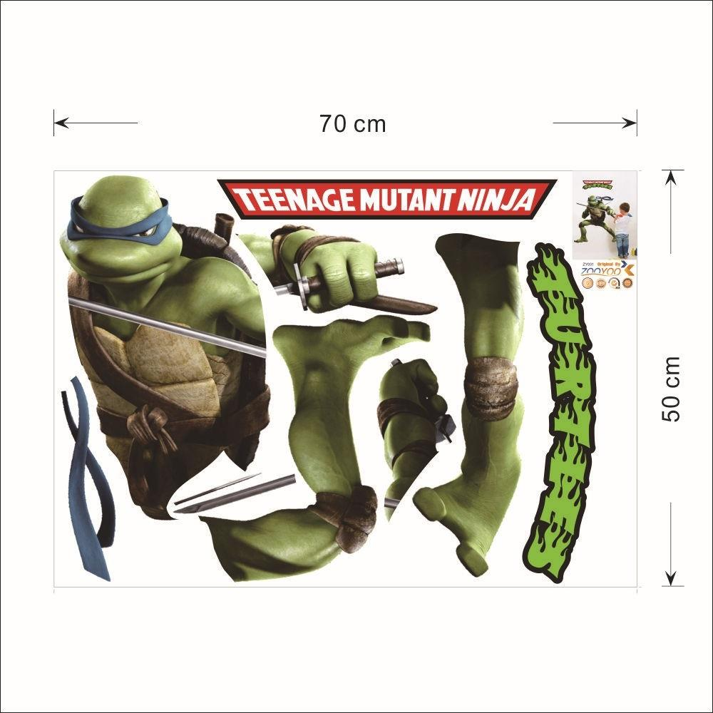 Turtle Wall Decor teenage mutant ninja turtle wall decor tmnt 3d diy wall stickers