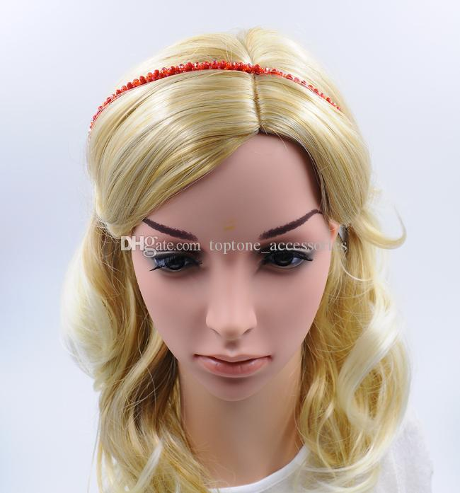 Kadın Kafa Boncuk Kristal ile Yeni Moda El Yapımı Saç Aksesuarları Toptan için Yüksek Kalite Saç Mücevherat