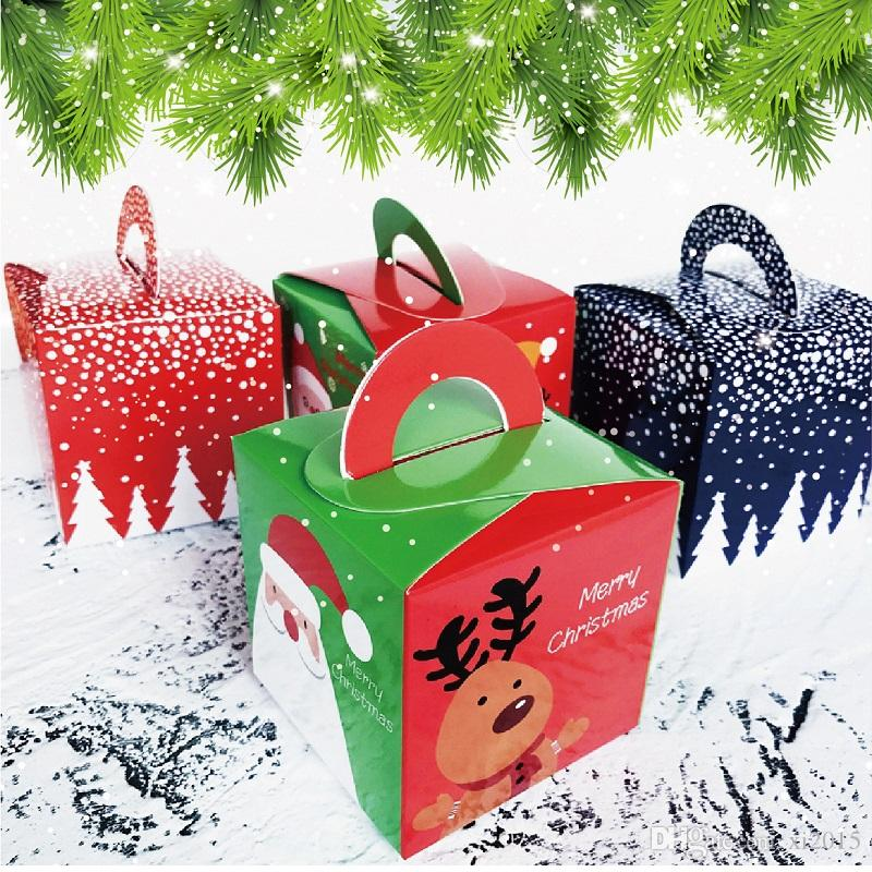 Christmas Decorations Christmas Apple Gift Box Apples Xmas Eve Apple Wrapping Cupcake Box Muffin Paper 8.5*8.5*8.5CM