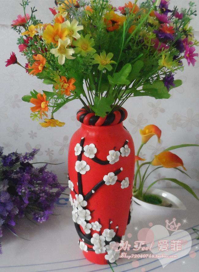 Birthday Wedding Gift New House Painted Ceramic Pottery Clay Flower Vase Home  Decoration Decorations Home Decorative Tall Vases Decorative Urns And Vases  ...