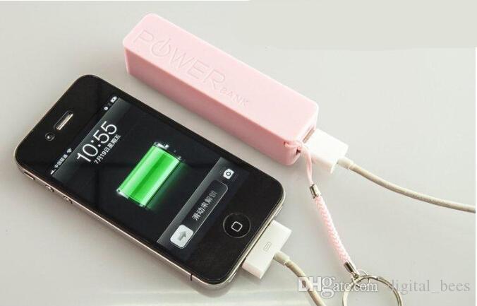 ベストセラーユニバーサル2600mAhポータブル香水USB電源銀行外部バックアップバッテリー充電器緊急トラベルパックパック用モバイルiPhone用