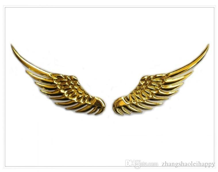 2017 Solid Alloy Plating Eagle Wings 3d Car Sticker Decal ...