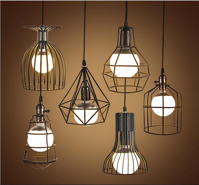 Großhandel Vintage LED Pendelleuchten Industrie Vogelkäfig ...