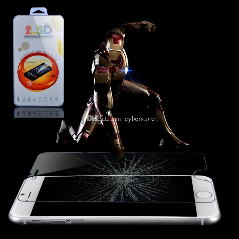 iphone 6 6S 6Plus 5 4S 2.5D 0.26mm 9H Premium Tempered Glass Film Screen Protector for iPhone6 5S 4 Retail Package