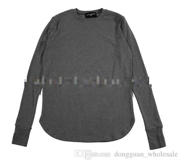 SAINT MANSHION Angst vor Gott Style Langarm T-Shirt Hip Hop Swag Tyga Street Wear T-Shirt Daumenloch Manschetten Kanye West T-Shirt