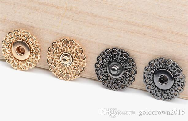 Yüksek Kaliteli Metal Yapış Button15/18 / 21 / 25mm Ceket toka düğmeleri Moda Topuz Stealth Toka Coat Düğmeler Konfeksiyon accessoriies
