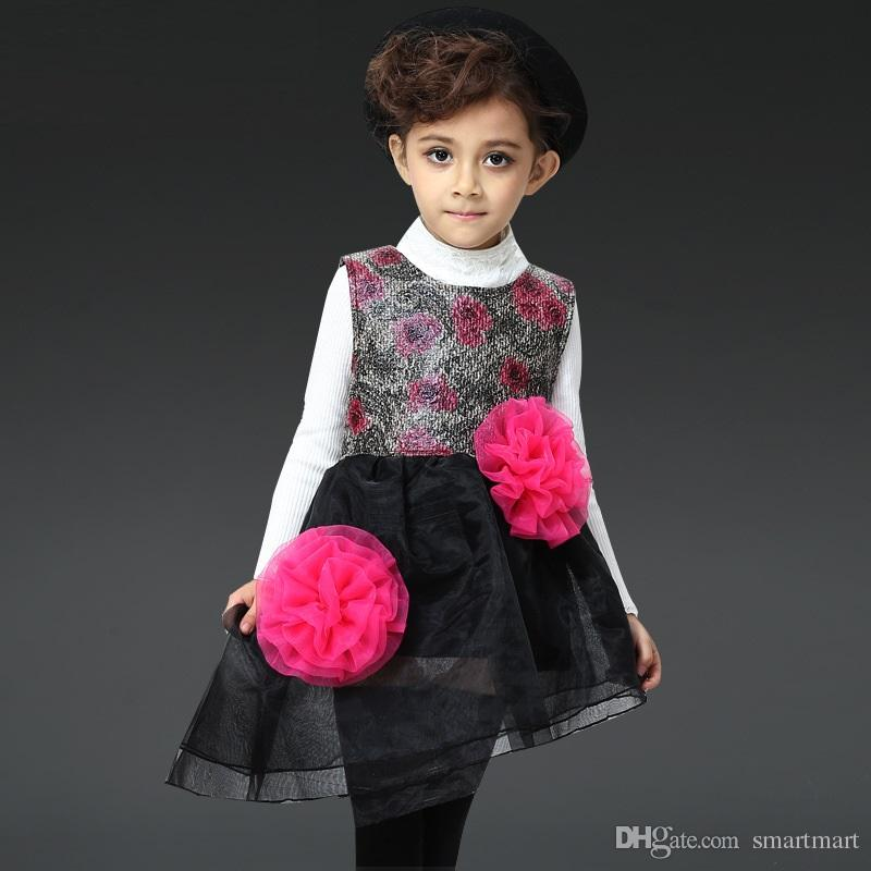2016 Spring Kids Girls Tutu Party Dress Cute Baby Floral Ruffles Asymmetric Western Dress Wholesale Girls Party Dress Girls Tutu Dress Princess Dresses ...  sc 1 st  DHgate.com & 2016 Spring Kids Girls Tutu Party Dress Cute Baby Floral Ruffles ...