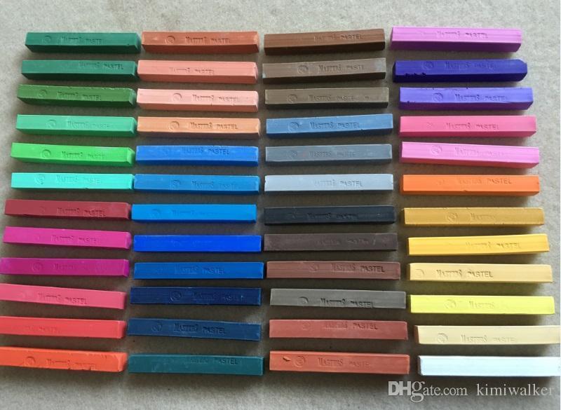 48 색상 마리의 수채화 그림 크레용 분필 물 컬러 페인트 부드러운 파스텔 미술 그리기 설정 학생을위한 편지지