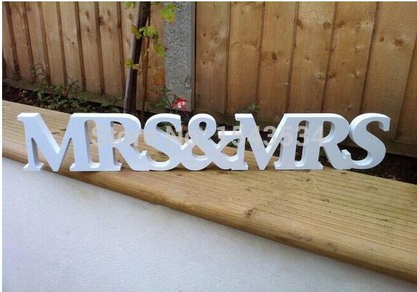 Mr Mrs Wedding Gifts: New Wedding Gift Mrs & Mrs Letters White Wood Mr & Mrs