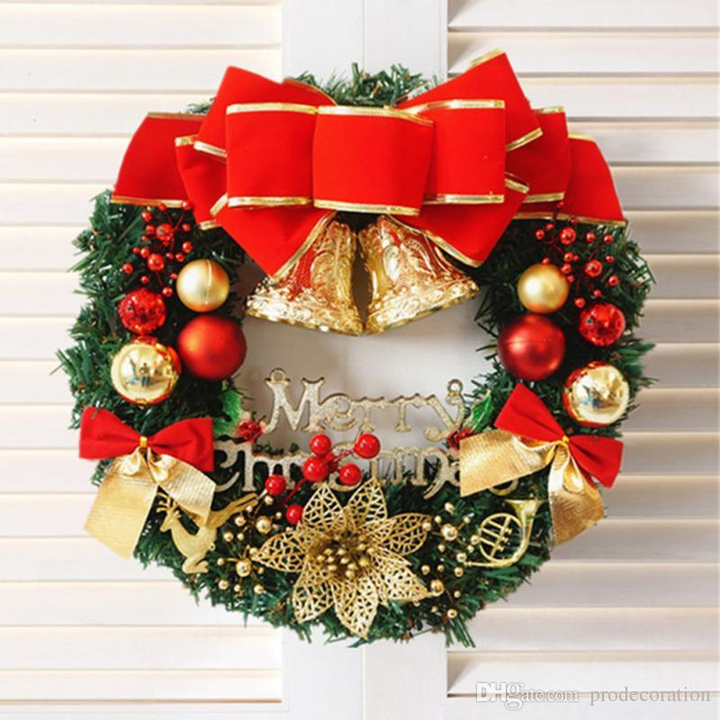 New Creative Fashion Christmas Wreath New Year Christmas Decorations For  Home Door And Window Decorations Luxury Merry Christmas Party Decorate Your  House ... - New Creative Fashion Christmas Wreath New Year Christmas Decorations