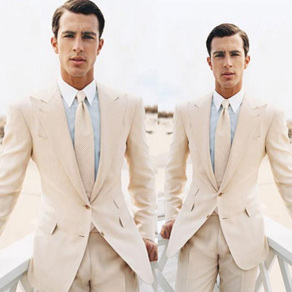 Beige Suits For Prom - Go Suits